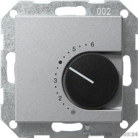 GIRA Raumthermostat Öffner 24V System 55 Farbe alu 039126